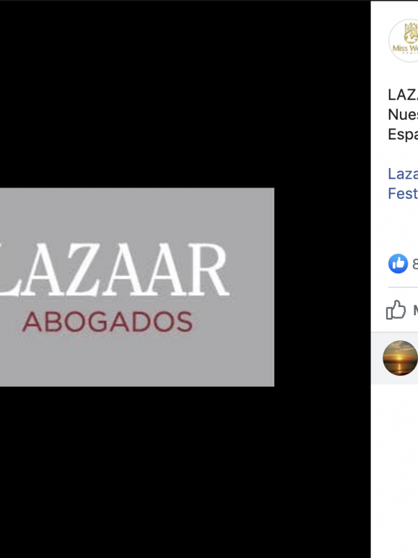 "Lazaar Abogados es elegido como ""equipo de Abogados de Miss Mundo España"""