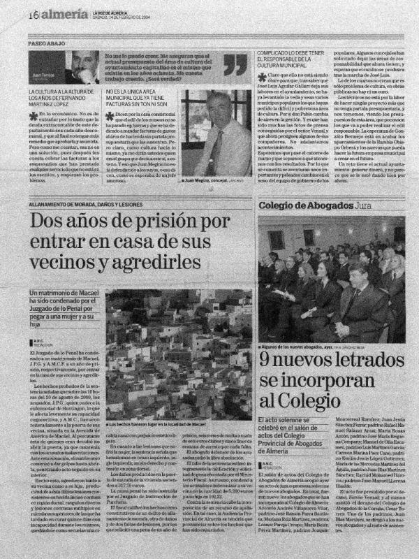 Nueve nuevos letrados se incorporan al Colegio Provincial de Abogados de Almería
