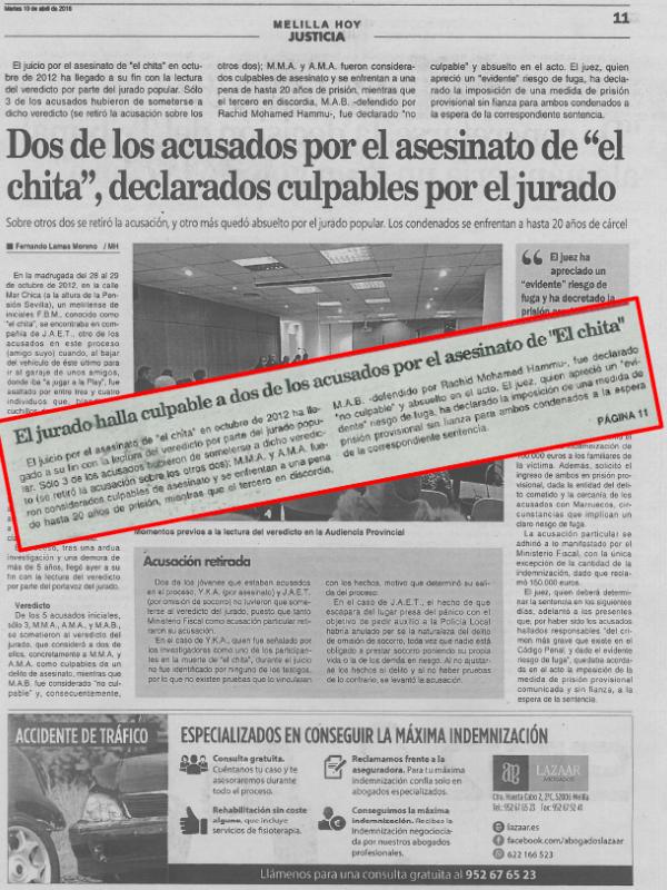 Lazaar Abogados absolución caso catana