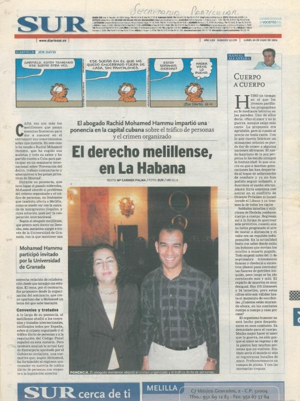 El derecho melillense, en La Habana